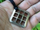 Grid Cube in Stainless Steel