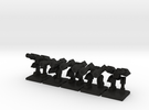 TA ARM Hammer Squad - 1cm tall in Black Acrylic