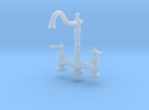 Miniature Doll House Kitchen Faucet B, 1:12 in Frosted Ultra Detail