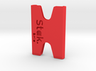 STAK Beta - Minimalist Wallet in Red Strong & Flexible Polished