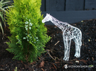 Digital Safari - Giraffe (Medium) in White Strong & Flexible