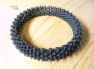 Spikey Bangle 1 in Black Strong & Flexible