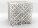 Octet Truss Cube (6x6x6) in White Strong & Flexible