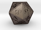 Triforce D20 in Stainless Steel: Small
