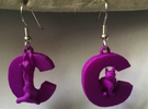 C Is For Cat in Purple Strong & Flexible Polished