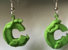 C Is For Crocodile in Green Strong & Flexible Polished