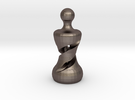 Chess Pawn 2016 -Double Helix in Stainless Steel
