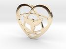 Atom Star Heart Bird 40x3mm Pendant in 14k Gold Plated