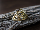 Butterfly Ring [ Size 8 ] in Polished Brass