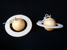 Saturn Planet Earrings for Astronomers and Astroph in White Strong & Flexible