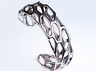 Porous Cuff (sz M/L) in Stainless Steel