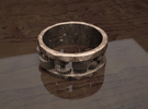 Cog ring: size 8 (US) Q (UK) in Polished Bronze Steel
