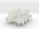 HO Slot Car Tyco-S Guide Pins in White Strong & Flexible