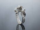 Silver Bryozoa Ring  in Polished Silver: 5 / 49