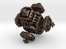 Fractal Menger Koch in Polished Bronze Steel