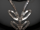 Crystal Flow Pendant One in Frosted Ultra Detail