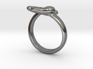 baby foot ring size 12 in Premium Silver