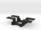 Servo Brackets (pair) with optional shims  in Black Strong & Flexible