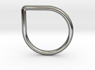Drop Ring in Polished Silver