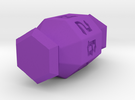 Jewel 8 Sided Die in Purple Strong & Flexible Polished