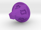 Jewel 10 Sided Die in Purple Strong & Flexible Polished