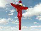 Hanging flower Vase - Keeper in Red Strong & Flexible Polished