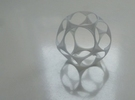 Dodecahedron Sphere in White Strong & Flexible