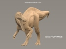 Suchomimus 1:72 v1 in White Strong & Flexible
