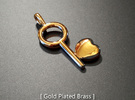 Key To My Heart Pendant in Raw Bronze