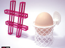 Nothing But EGG Holder in White Strong & Flexible