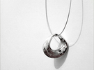 Moebius Pendant I in White Strong & Flexible Polished