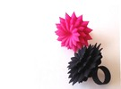 Big Bloom Ring Size 8 in Black Strong & Flexible