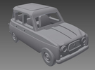 Renault 4 Hatchback 1.gen 1:160 scale (Lot of 2 ) in Frosted Ultra Detail