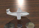 Flying Boat (around 1/300 scale) in White Strong & Flexible