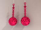 Starfish Ball Earrings in Pink Strong & Flexible Polished