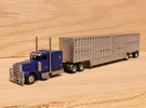 1:160 N Scale 53' Spread Axle Livestock Trailer in Frosted Ultra Detail