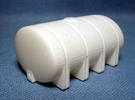 """1/64th """"S"""" Scale 2635 Gal Elliptical Leg Tank in White Strong & Flexible Polished"""
