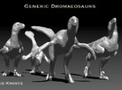 Dromaeosaurs or Raptors1/40 Krentz in White Strong & Flexible