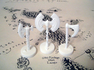 Role Playing Counter: Axes (Set) in White Strong & Flexible Polished
