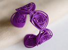 Rose Stripes Bracelet in Purple Strong & Flexible Polished