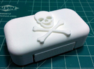 DJI Phantom 2 Battery Door - Skull & Cross Bones in White Strong & Flexible
