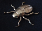 Japanese beetle in Raw Bronze