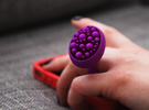 Bunch ring - size 5.5/16mm in Purple Strong & Flexible Polished
