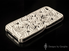 LOTUS Art Case for iPhone 5  / 5S in White Strong & Flexible Polished