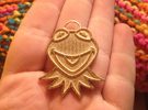 Gold Kermit Pendant in Polished Gold Steel
