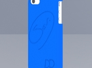 Iphone 4 - DD - Case - Custom back drawing in Blue Strong & Flexible Polished