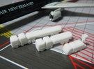 Airport GSE 1:400 Set 3 : Fuel & Lavatory truck in White Strong & Flexible Polished