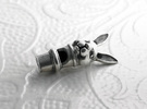 Silver Rabbit Whistle in Polished Silver