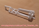 1/64 (S) Scale 3000gal NH3 Tank Cart Kit in White Strong & Flexible Polished