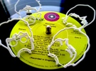 The Beatles: Wire Wall Art (Small) in White Strong & Flexible